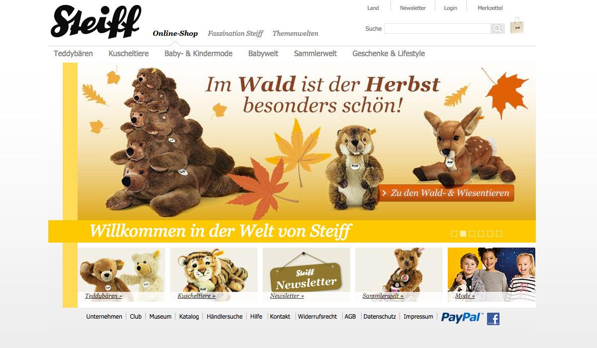 9a8bb11ba549 Das Münchener eCommerce-Unternehmen mzentrale wird den Relaunch des Steiff- Online-Shops betreuen. Ziel des neuen Shops ist es, die Premiummarkenwelt  von ...